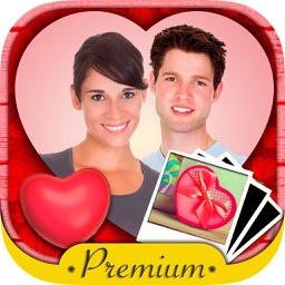 Valentine love frames Photo editor to put your Valentine love photos in romantic love frames - Premium