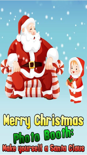Merry christmas photo booth make yourself santa claus on the app store screenshots solutioingenieria Image collections