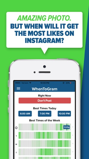 WhenToPost: Best Times to Post on the App Store