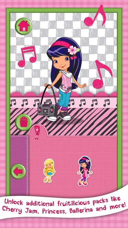 Strawberry Shortcake Card Maker Dress Up - Fashion Makeover Game for Kids screenshot-3