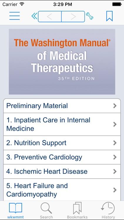 The Washington Manual of Medical Therapeutics, 35th Edition