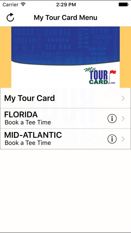 My Tour Card