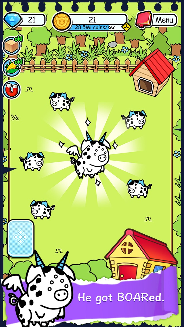 Pig Evolution - Tap Coins of the Piggies Mutant Tapper & Clicker Game Screenshot