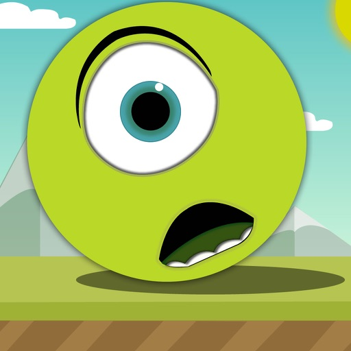 Green Bouncing Ball - Avoid The Spikes and Escape From The Geometry World