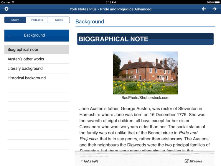 Pride and Prejudice York Notes Advanced for iPad