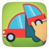 儿童车,特种车和卡车拼图免费游戏为幼儿和男婴一看,听和学