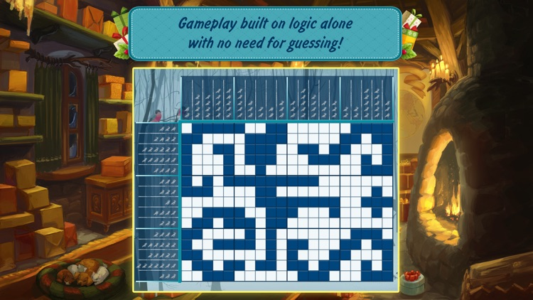 Christmas Griddlers: Journey to Santa — Picross mind numbers puzzle game screenshot-4