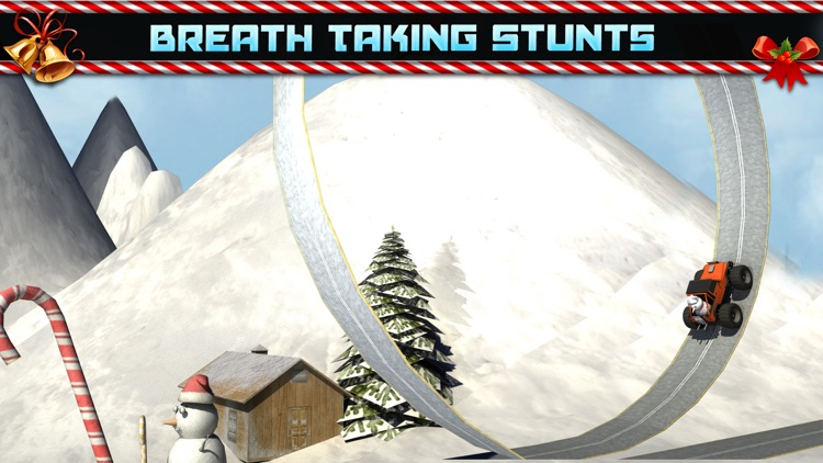 Christmas 3D stunt extreme Car Parking Mania games screenshot-4