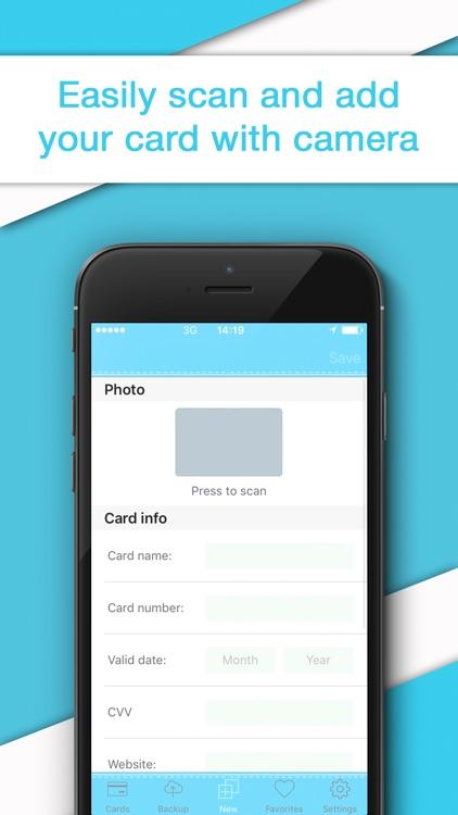 Credit Card Wallet - Reader & Scanner for Cards