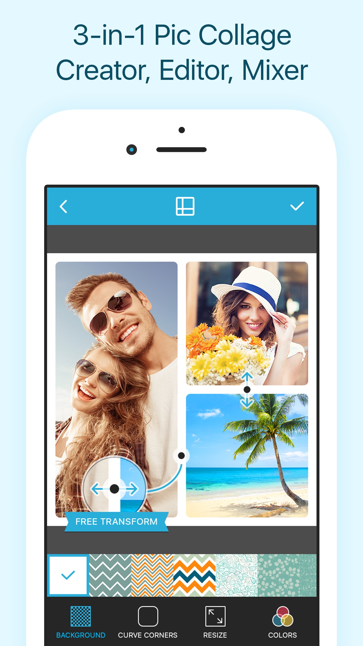 Collageable - Photo Collage Maker, Pic Grid Free Screenshot