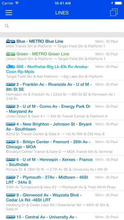ezRide Minneapolis MetroTransit - Transit Directions for Bus, Train and Light Rail including Offline Planner screenshot-4