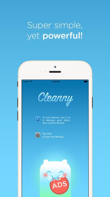 Cleanny - Your Safari Companion, ad-free, lightning-fast and simple adblocker!