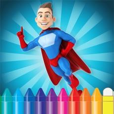 Activities of Cartoon Superhero Coloring Book - Drawing for kid free game