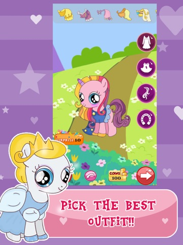 "Скачать ""Princess Pony Dress Up For Equestria Girls"" : My Little Pets Friendship Rock salon and Make-Up Ever Game"