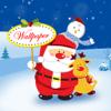 Santa Wallpaper Live Maker - Retina Photo Backgrounds of Xmas Tree, Light & Santa Claus
