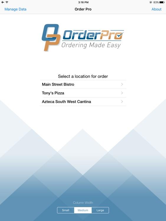 Order-Pro