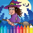 Halloween & Witch Coloring Book - Drawing Ghost for kids icon