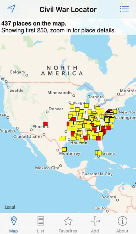 American Civil War Locator screenshot-3