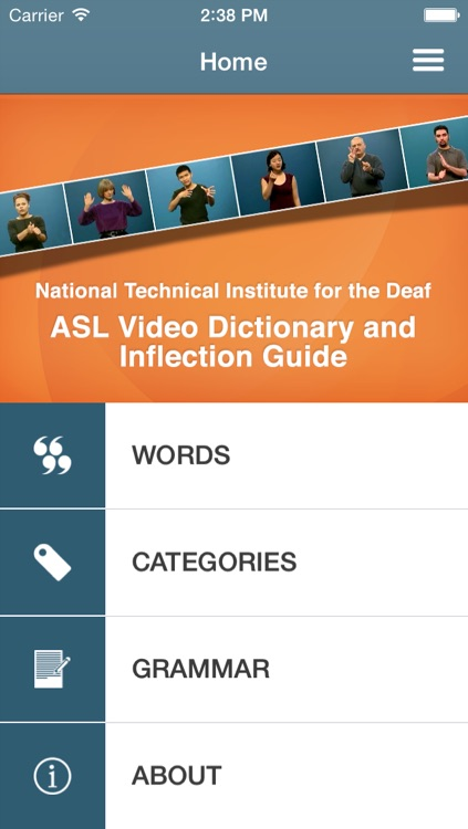 ASL Dictionary from NTID: Modified for Younger Users