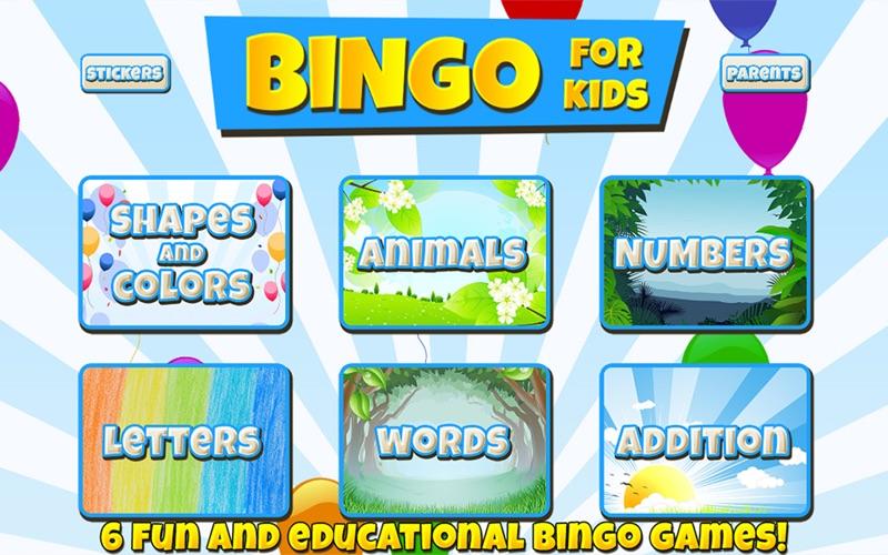 Bingo For Kids screenshot 1
