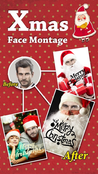 Xmas Face Montage Effects - Change Yr Face with Dozens of Elf & Santa Claus Looks screenshot one