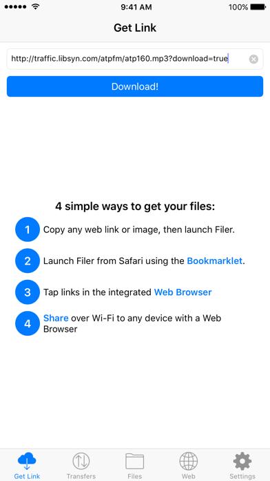 Filer review screenshots