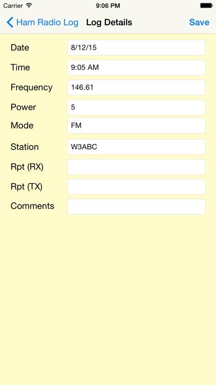 Ham Radio Log