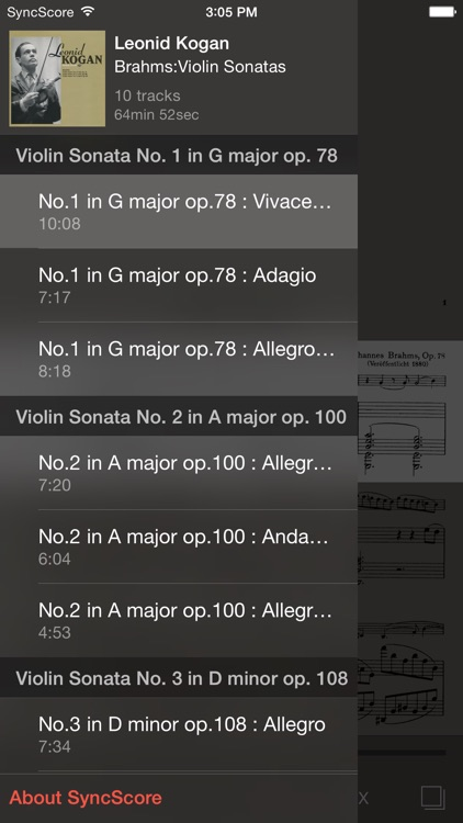 Brahms Violin Sonatas screenshot-2