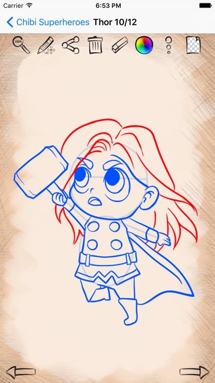 Easy Draw Super Heroes Chibi