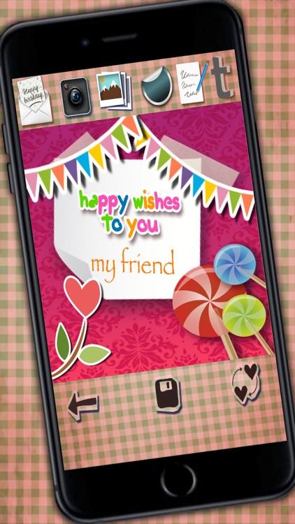 Create happy birthday greetings screenshot-3