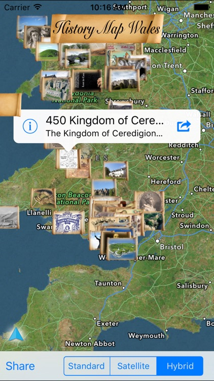History Map Wales
