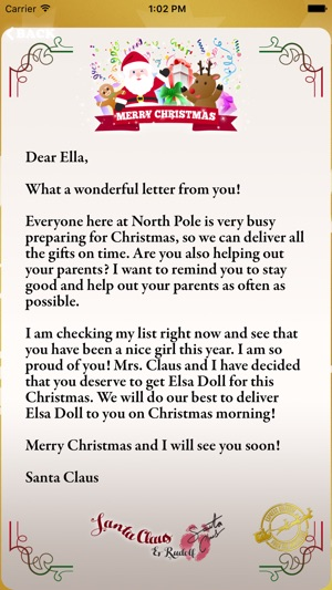 Letter to santa claus write to santa north pole on the app store letter to santa claus write to santa north pole on the app store spiritdancerdesigns Images
