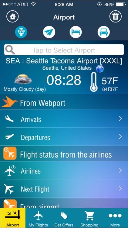 Seattle Airport –Flight Tracker Alaska (SEA)