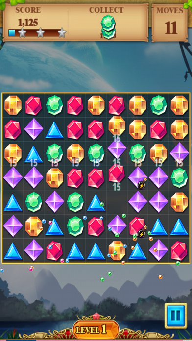 Jewel Match Blitz - Jewel Quest Saga screenshot one