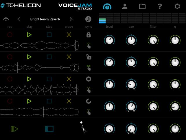 VoiceJam Studio: Live Looper & Vocal Effects Processor Screenshot