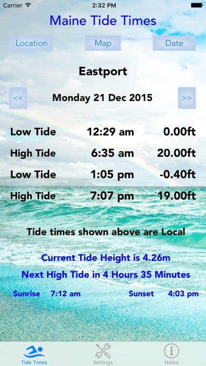Maine Tide Times screenshot-0
