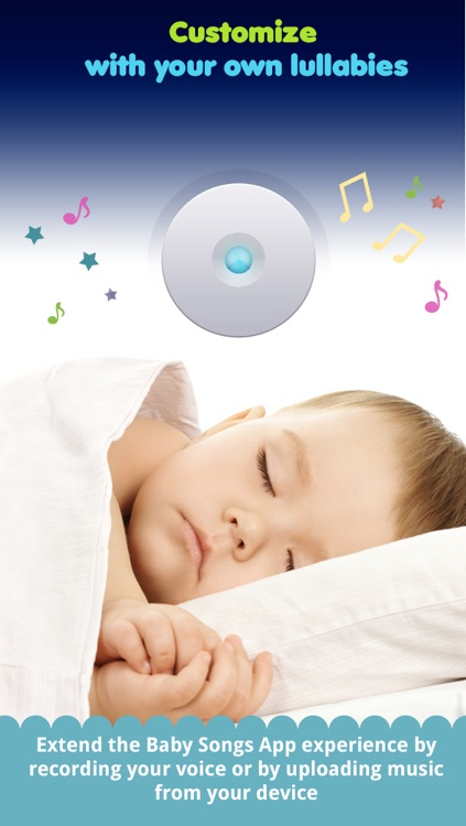 Baby songs 2 : bed time companion with lullabies,white noises and night light screenshot-3