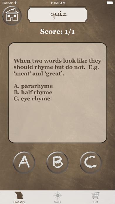 English Literature Success screenshot two