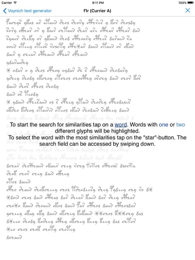VoynichTextGenerator Screenshot