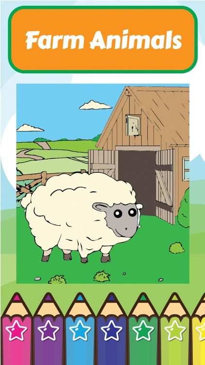 Coloring My Cute Farm Animals for Preschool boy and girl