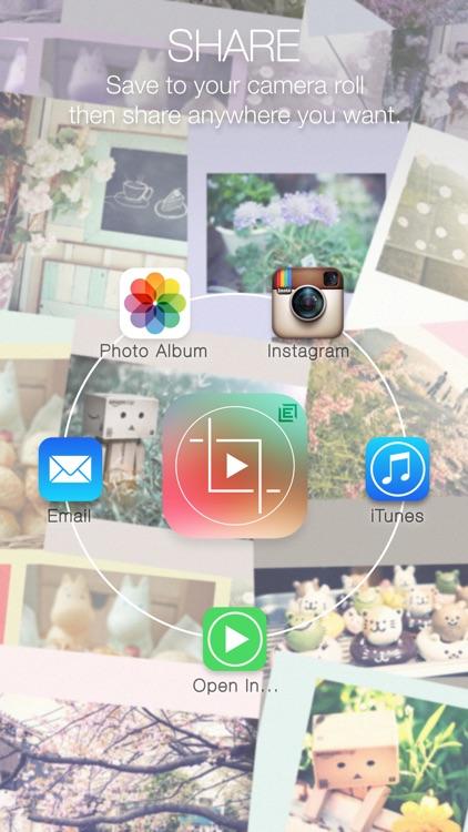 Crop Video Square FREE - Rectangle size Movie Clip screenshot-4