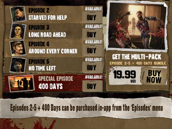 Ipad Screen Shot Walking Dead: The Game 2