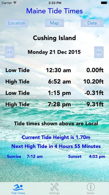 Maine Tide Times screenshot-4