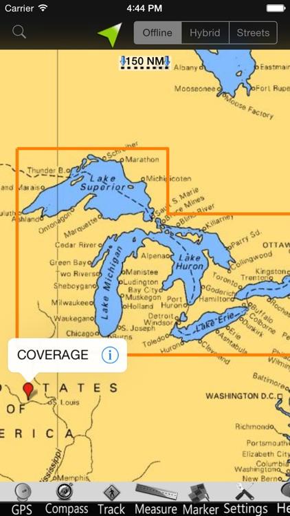 US Great Lakes GPS Nautical charts screenshot-4