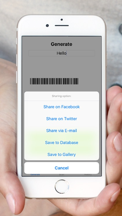 BarCode ToolBox: Bar code, Data Matrix, QRcode generator & reader to generate, share and save it. screenshot-3