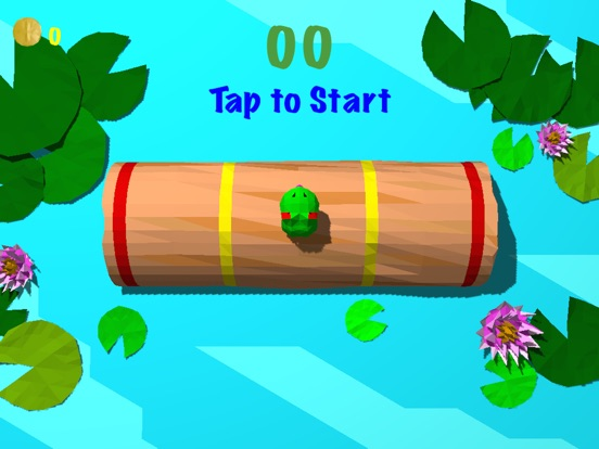 Froggy Log - Endless Arcade Log Rolling Simulator and Lumberjack Game Stay Dry and Dont Fall In The Water!-ipad-0