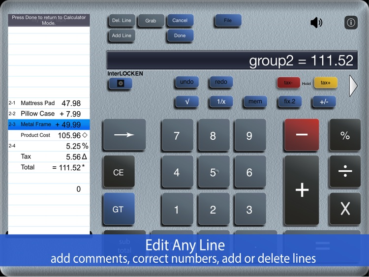 Accountant for iPad Calculator