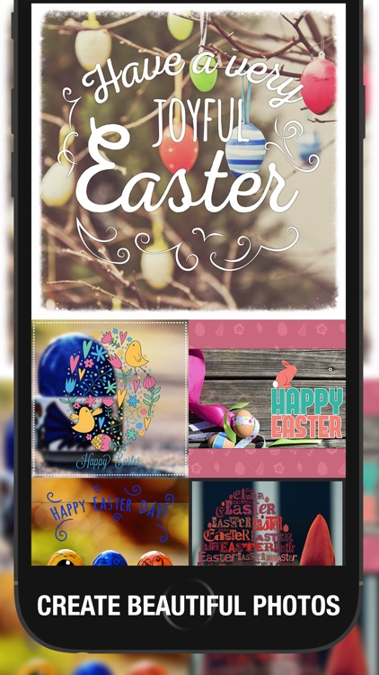 EasterPic Happy Easter Photo Editing - Add artwork, text and sticker over picture. Hand picked & hi-res design elements