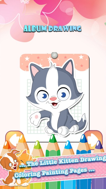 The Little Kitten Drawing Coloring Book Painting Pages learning games for kids