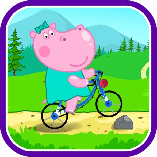 Бегемотик Пепа на велосипеде